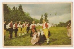 SWEDEN - SKANSEN STOCKOLM SKANSENS FOLKDANSLAG - VAVA VADMAL 1940s ( 310 ) - Cartes Postales