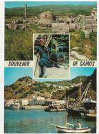 GREECE - SAMOS - 4 SIGHTS  - STAMP 1970s ( 26 ) - Cartes Postales