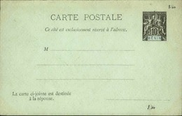 BENIN - Entier Sur Carte Réponse Vierge Au Type Groupe - Très Bon état - P21086 - Covers & Documents