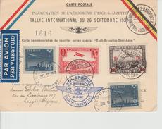 Luchtpost Luxemburg - Brussel - Stockholm 1937 ?? ??? ?? - Poste Aérienne