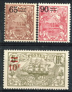 Nouvelle Caledonie 1924-27 N. 131, 133, 137 MH Cat. € 13,50 - Nuovi