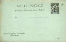 ST PIERRE ET MIQUELON - Entier Sur Carte Réponse Vierge Au Type Groupe - Très Bon état - P21090 - St.Pierre & Miquelon