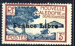 Nouvelle Caledonie 1941 N. 197 C. 3 Sovrastampato France Libre MNH Cat. € 17 - Nuova Caledonia