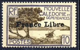 Nouvelle Caledonie 1941 N. 200 C. 10 Sovrastampato France Libre MNH Cat. € 17 - Nuova Caledonia