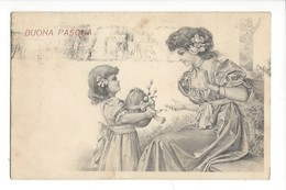 16205 - Buona Pasqua Fillette Offrant Oeuf à Sa Maman - Pâques