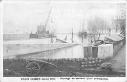 INONDATIONS DE PARIS 1910 ( Série PARIS INONDE ) : Barrage De Secours Quai Malaquais - CPA - Seine - De Overstroming Van 1910