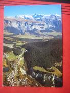Laax (GR) - Flugaufnahme (?) Gegen Flims - GR Graubünden