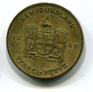 Newfoundland Pitcher Plant Medal - Tokens & Medals