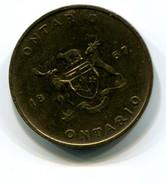 Ontario Canada White Trillium Medal - Tokens & Medals