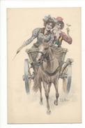 16207 - Couple De Femmes Attelage Cheval Signée Wichera N°206 - Vienne