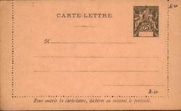 BENIN - Entier Sur Carte Lettre Vierge Au Type Groupe - P21097 - Covers & Documents