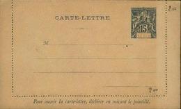 BENIN - Entier Sur Carte Lettre Vierge Au Type Groupe - P21098 - Covers & Documents