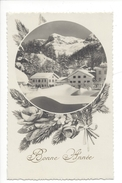 16209 - Bonne Année Village Suisse En Hiver - Nouvel An