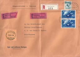 Express R Brief  Beringen - Schaffhausen          1949 - Briefe U. Dokumente