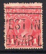 Australia 1914-20  1d Carmine-red GV Head, 2nd Wmk., Used, (SG 21) - 1913-36 George V: Heads