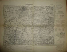 Karte Des Deutschen Reiches 1-cm-Karte - 438 Erfurt - Umdruckausgabe! 1936 - Topographische Karten
