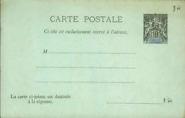 GUADELOUPE - Entier Sur Carte Vierge Au Type Groupe - P21114 - Lettres & Documents