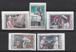 Mauritanie N° 234 à 238 ** Non Dentelé, Promotion De La Femme - Mauritania (1960-...)