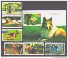 Cuba 2015 Kuba Mi 5872-5877 + Block315(5878) Working Dogs / Hunde **/MNH - Chiens