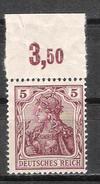 Reich N° 119 Neuf ** Michel N° 140 P OR - Ungebraucht