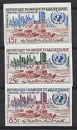 Mauritanie N° 156 à 158 ** Non Dentelé, Admission à L'ONU Le 27 Octobre 1961 - Mauritanie (1960-...)