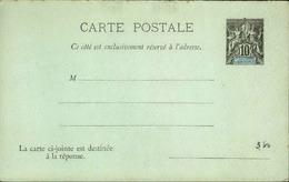 NOUVELLE CALEDONIE - Entier Sur Carte Réponse Vierge Au Type Groupe - P21123 - Briefe U. Dokumente