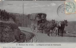 66 - PYRENEES ORIENTALES / Montlouis - La Diligence Arrivant De Villefranche - Très Beau Cliché Animé - Frankreich