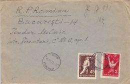 FIVE YEAR PLAN, MINER, WORKER, STAMPS ON COVER, 1962, BULGARIA - Bulgarien