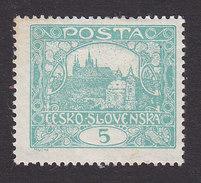 Czechoslovakia, Scott #42, Mint Hinged, Hradcany At Prague, Issued 1919 - Czechoslovakia