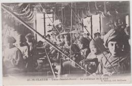 SAINT CLAUDE USINE JEANTET DAVID LE POLISSAGE DE LA PIPE 1913 TBE - Saint Claude