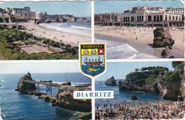 64 - BIARRITZ - La Grande Plage, Le Casino, Rocher De La Vierge Et Port-Vieux - Biarritz
