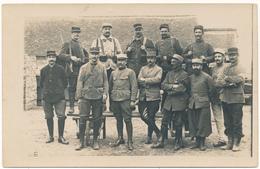 Carte Photo Militaire  1915 - Cie Du Parc 4/24, Secteur Postal 168 - 2 Scans - Weltkrieg 1914-18