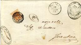 1886 Storia Postale // PALIANO - DIREZIONE DI ROMA - Marcofilía