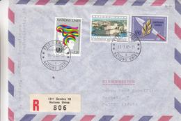 Nations Unies - Genève - Lettre Recommandée De 1985 - Oblitération Genève 10  - Nations Unies - épée - Office De Genève