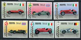 Manama ** Michel N°  A 152A à F 152A - Voitures De Course - - Manama