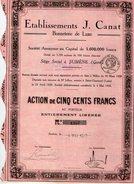 VP7519 - Action Des Etablissements J.CANAT - Siège Social à SUMENE ( Gard ) - Textile