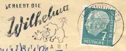 "718  Eléphant, Zoo ""Wilhelma"" Stuttgart: Flamme D'Allemagne, 1959 -  Elephant, Palm Tree  Slogan Cancel From Germany - Elefanten"