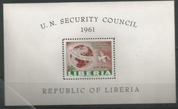 LI 1961- U N O SECURITY COUNCIL, LIBERIA, S/S. MNH - Liberia