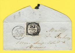 35-Rennes - Chiffre Taxe N° 2A - Typographie - Mignonette - 12 Septembre 1859 - Encadrement Superbe - - Marcophilie (Lettres)