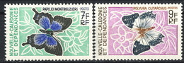 Nouvelle Caledonie 1967 N. 341 E N. 342 MNH Cat. € 11.50 - Nuova Caledonia