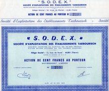 VP7520 - Action De La Société S.O.D.E.X - Société D'Exploitation Des Etablissements Tarbouriech à ALBI - Actions & Titres