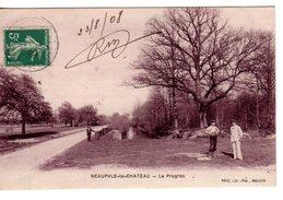 78 - CPA NEAUPHLE LE CHATEAU - LE PROGRES - 1908 - EXC ETAT - - Neauphle Le Chateau