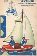 Publicité Blédine Blécao Montage Découpage Mounting Cutting Le Voilier Illustrateur T. GOUGEON (2 Scans) - Publicité