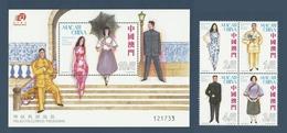 Macao Macau 2010 Yvert 1519/1522 ** + Bloc 206 ** Mode Fashion Moda - Superbes