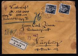 A4440) Schweiz Wertbrief Von St. Gallen 28.9.22 Mit MeF Mi.141 (2) - Schweiz