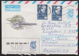 Mathematik 69) UdSSR 1976 Mi# 4505 (4): Integral, Satelliten Im Erdorbit (auf GS) Nach BRD - Briefe U. Dokumente