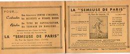 VP7522 - Livret De La Société La ¨ SEMEUSE DE PARIS ¨ à PARIS Rue Du Louvre - Bank & Insurance