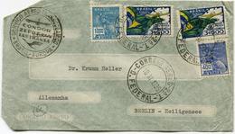 "BRESIL LETTRE PAR AVION AVEC CACHET ""SERVICO AREO........CONDOR ZEPPELIN LUFTHANSA BRASIL-EUROPA"" DEPART 18 XI 1935..... - Luchtpost"