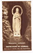 Image Religieuse , Image Pieuse, NEUVAINE NATIONALE NOTRE DAME DE LOURDES   81 ème Pélerinage - Images Religieuses