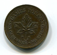 Canada Video Arcade Token - Monetary /of Necessity